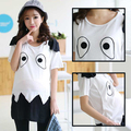 Hot sale Fashion Summer Cotton Nursing Top T-shirts Maternity T shirts Black and White Breastfeeding Tops Clothing nursing cloth
