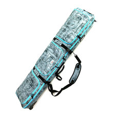 166cm Double board snowboarding bag double shoulder ski pack check bag With wheels snowboard font b