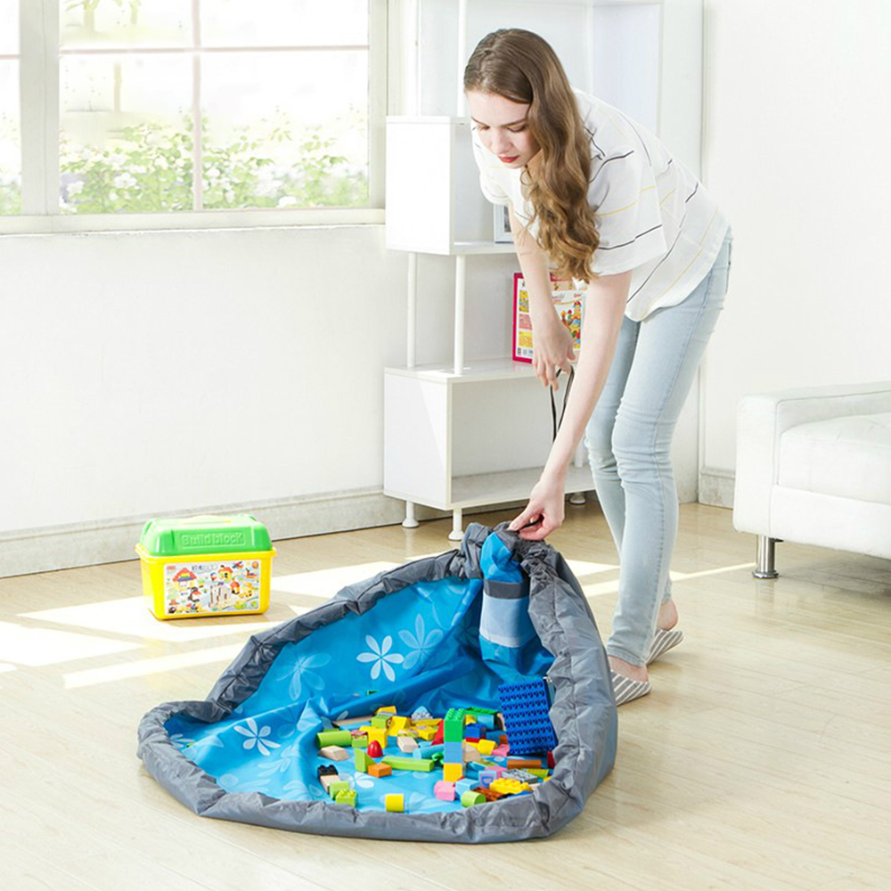 Baby Playmat Kids Storage Mat Children Play Hanging Bag Portable Folding Travel 80/150Cm Baby Play Pouch Printed Room Decor