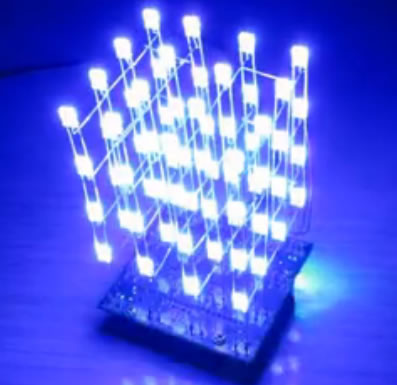 The development of 51 single-chip learning board 4*4*4 color LED LightDIY electronic parts cotted production suite беспроводная hi fi акустика dali kubik free red
