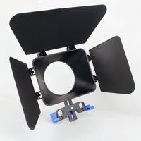Matte Box Sunshade For 15mm Rail Rod Follow Focus Rig Cage Movie Kit Film Making System