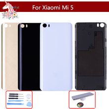 10pcs/lot Original Glass For Xiaomi Mi 5 mi5 Back Battery Cover Rear Door Housing Case mi Panel Replacement