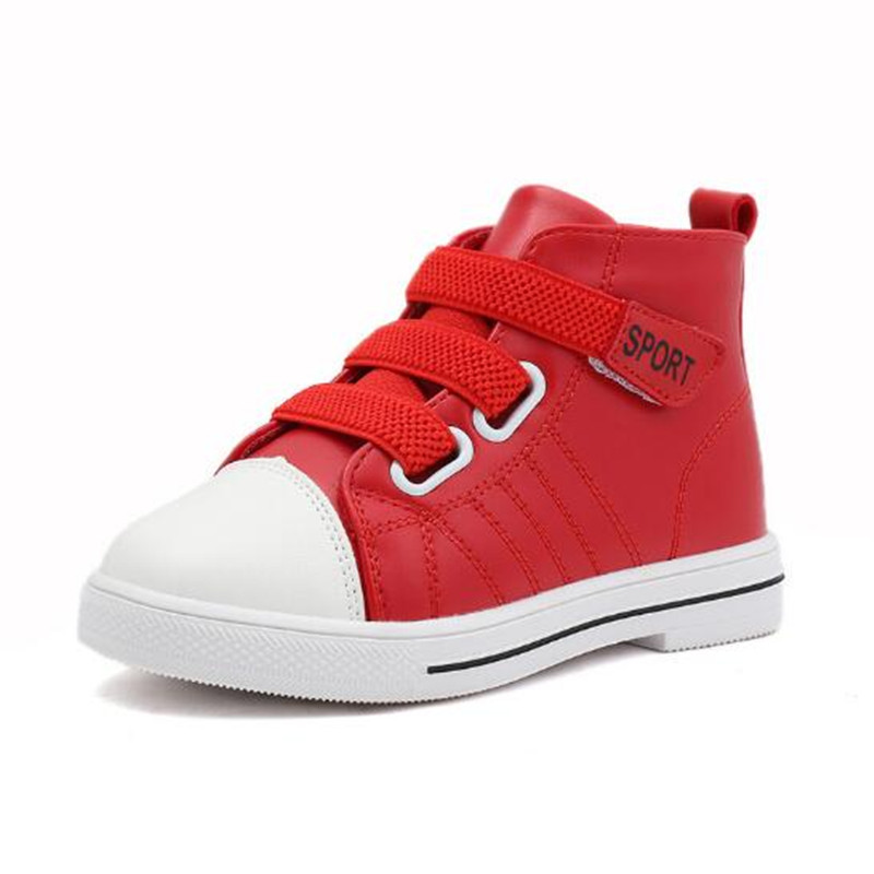 Drop Shipping Chilren s Shoes PU Leather High Sport Shoes For Toddler Lace  Up Boys Girls Causal 8cdc38a01111