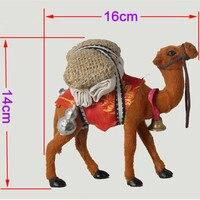 גמלים מלאכת בעבודת יד/ילדי צעצוע גמל קישוט הבית האידיאלי חיים ומציאותיים ומתנת ילד 16*5*14 cm