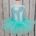 Pricess Anna Princess Girls Elsa Sequins Ballet Dress Leotard Sleeveless Dancewear for 4-8Y Ballet Tutu Party Dress Dance Dress