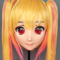 (Lanmei 05)Japan Anime Kigurumi Masks Cosplay Kigurumi Cartoon Character Role Play Half Head Lolita Doll Mask With Eyes And Wig