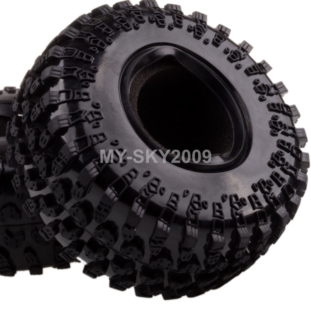 4pcs 2.2 Rubber Tyre Tires AX-3021 For RC 1/10 RC Off-Road Climbing Rock Crawler Truck 4pcs 1 9 rubber tires