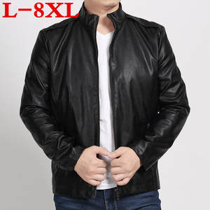 25477d82ea8 2018 Plus size 8XL 7XL 6XL 5XL new leather jacket