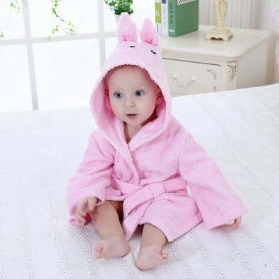 Розничная ; банные халаты для малышей; детское банное полотенце; Банное полотенце с капюшоном для младенцев; банный халат с рисунками животных; модельный банный Халат - Цвет: rabbit0-2Y baby