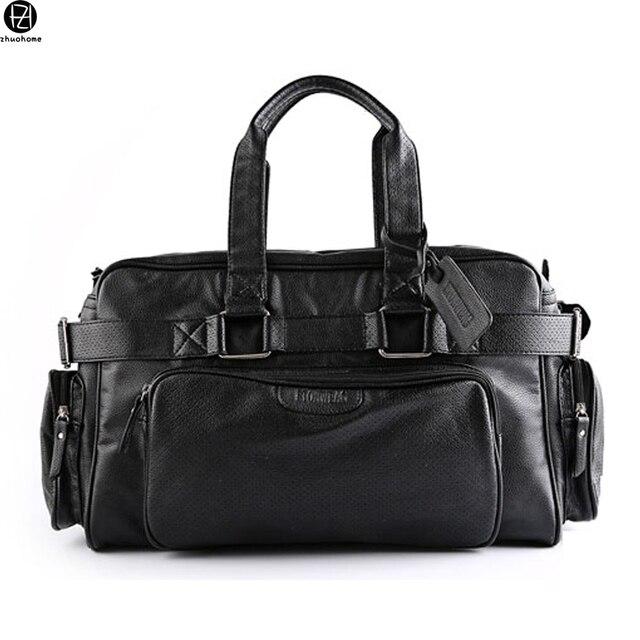 Grandes homens de capacidade saco de viagem venda quente bolsas de couro do vintage grandes homens de ombro bagagem sacos crossbody mochila para o sexo masculino