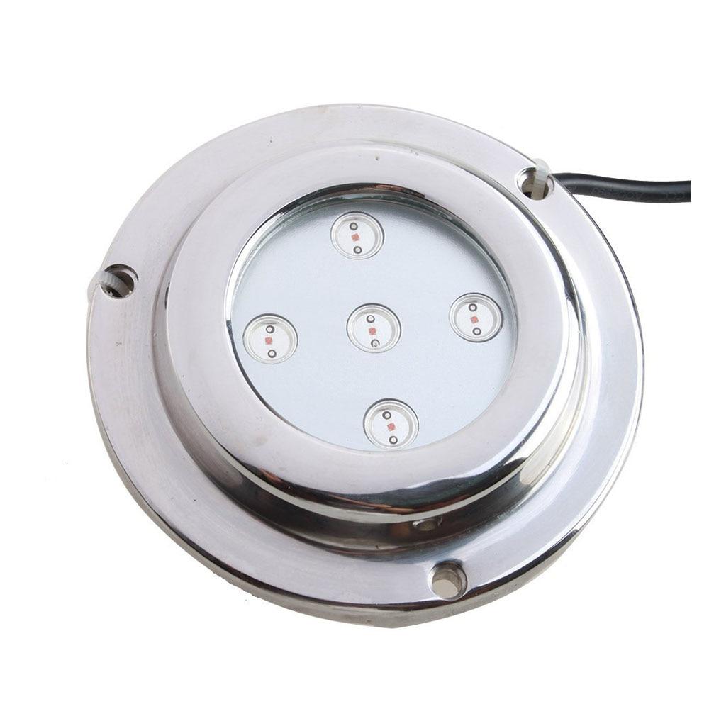 ФОТО Useful 5*1w Yellow Stainless Steel IP68 Waterproof LED Marine Underwater Light Boat Yacht light