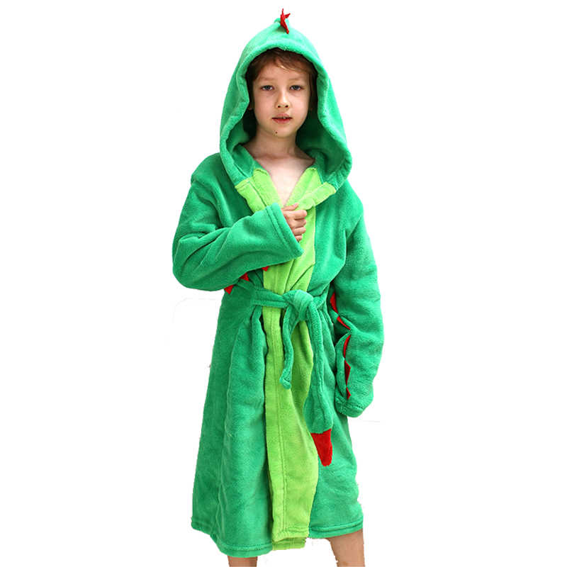 2019 original real quality sold worldwide Kids Dinosaur Robes Pokemon Pikachu Boys Girls Sleepwear Pajamas Children's  Bathrobe Flannel Hoodie Robe Enfant Clothes for Bath