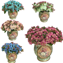 1 Bouquet 72 Heads Artificial Faux Silk Flowers Home Wedding Party Decor