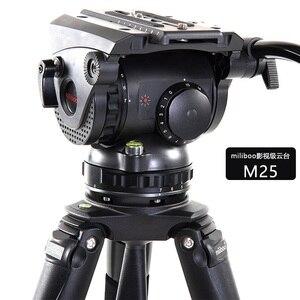 Image 4 - Miliboo m8 cabeças fluidas video do filme da transmissão profissional carregam o suporte resistente da câmera do tripé 15 kg com bacia de 100mm