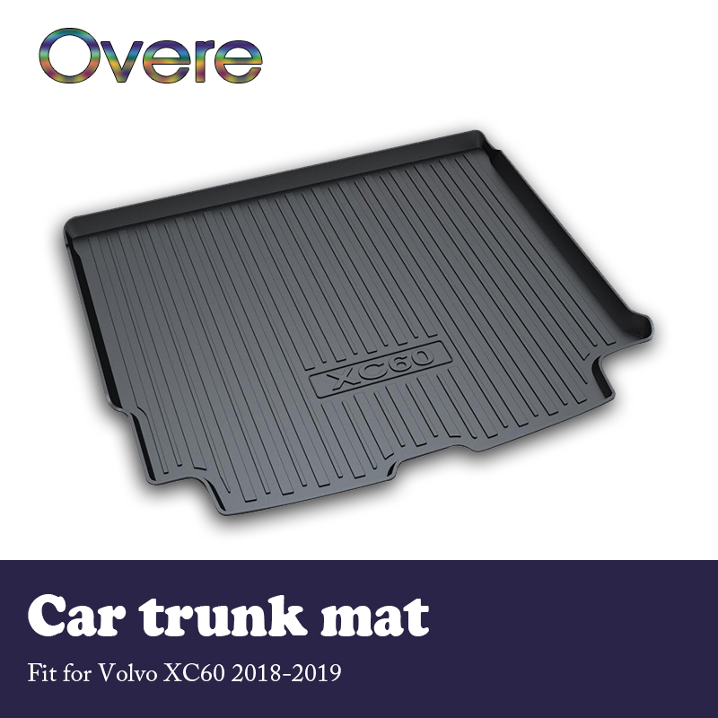 Overe NEW 1Set Car Cargo Rear Trunk Mat For Volvo XC60 2018 2019 Boot Liner Tray Waterproof Carpet Anti-slip Mat Accessories