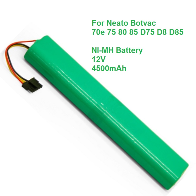 For Neato Botvac Battery Robot 70e 75 80 85 D75 D8 D85 NI-MH 4500mAh Rechargeable Batteries Vacuum Cleaner Bateria Replacement 10pcs replacement hepa dust filter for neato botvac 70e 75 80 85 d5 series robotic vacuum cleaners robot parts