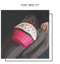 Cupcake Bag of Ice Cream design women messenger bags fashion chain shoulder bag lolita funny Crossbody Bag girls Summer Bao Bao