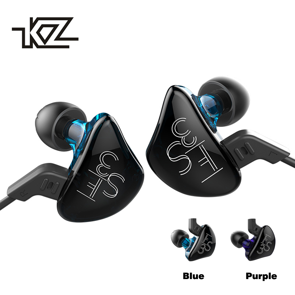 KZ ES3 Hybrid Dynamic And Balanced Armature Earphone HIFI Stereo Sport Headset Suitable Bluetooth Official Sport Headphone