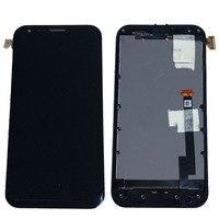 שחור זכוכית תצוגת LCD מסך מגע Digitizer עצרת + מסגרת לasus A68 PadFone חדש