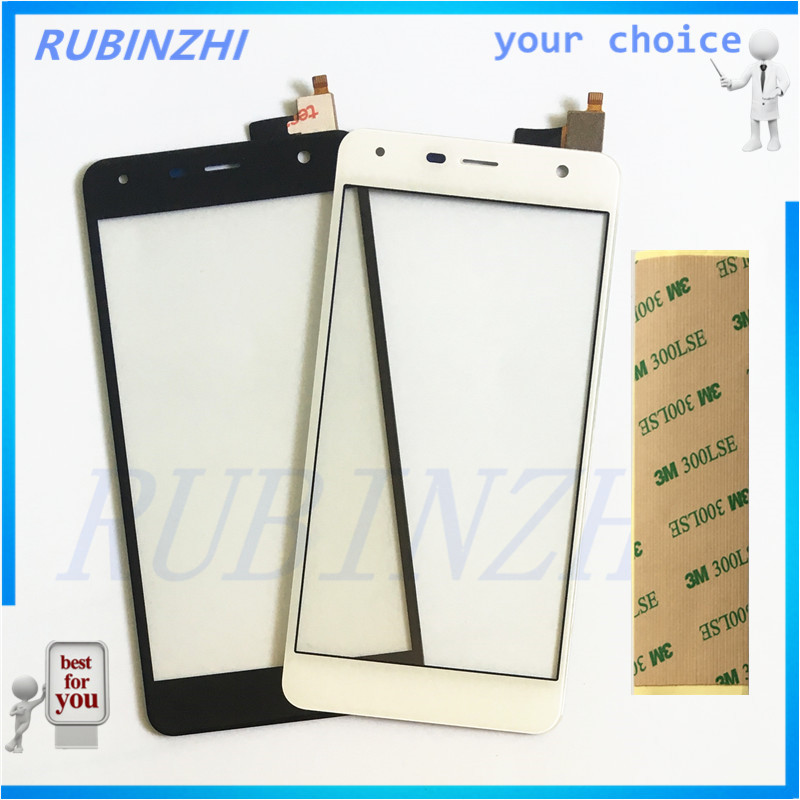 RUBINZHI Phone Sensor Touchscreen For Fly <font><b>fs517</b></font> cirrus 11 FS 517 <font><b>Touch</b></font> Screen Digitizer front glass lens panel sensor with tape image