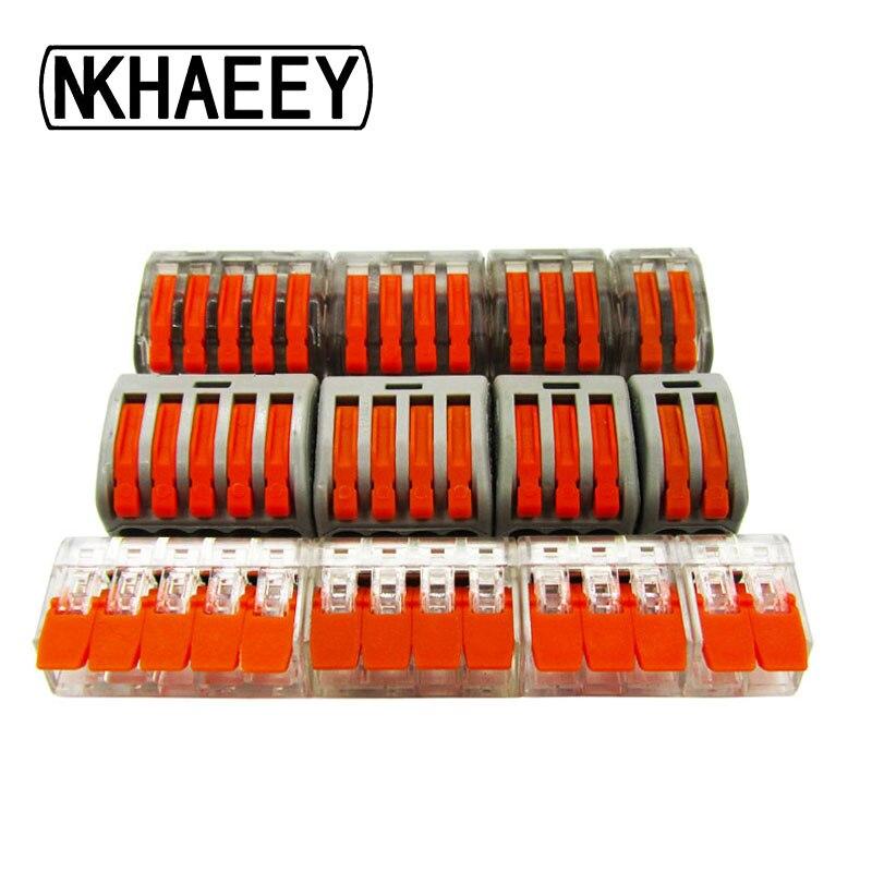 Frete Grátis (5 pçs/lote) 222 mini rápida Conectores de fios, Universal Conector de Fiação Compacta, push-in Terminal Block PTC412-415