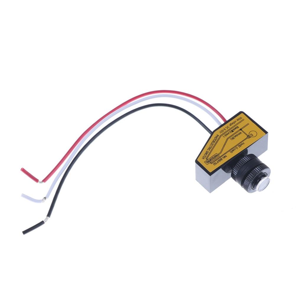 Automatic Light Sensor Dc12v 24v 36v 48v Control Dusk To