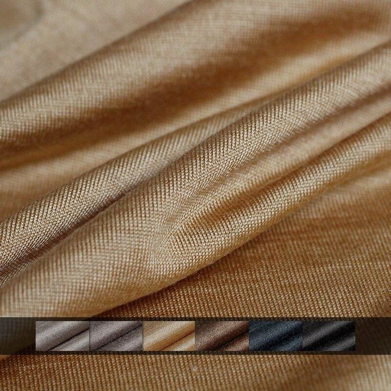 Pearlsilk Japanese Knitted Wool Thin Soft High Gloss Elastic Garment Materials Autumn T-shirt DIY Clothes Fabrics Freeshipping