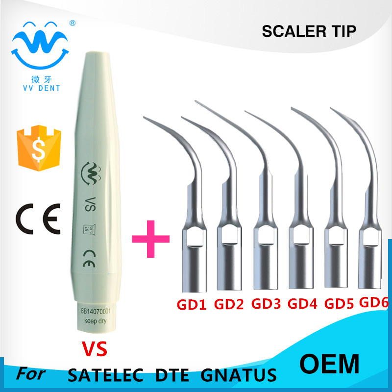 DENTAL SCALER TIPS AND HAND PIECE COMPATILE WITH SATELEC, WOODPECKER-DTE, GNATUS,HENRY SCEHEIN-S-SERIES DENTAL EQUIPMENT