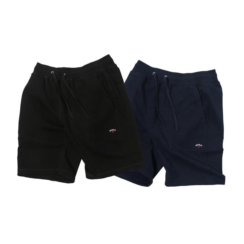 19ss Noah Shorts Men Women Cross Embroidery Streetwear Fashion Beach Short Joggers Heron Preston Kanye West Vetements Shorts
