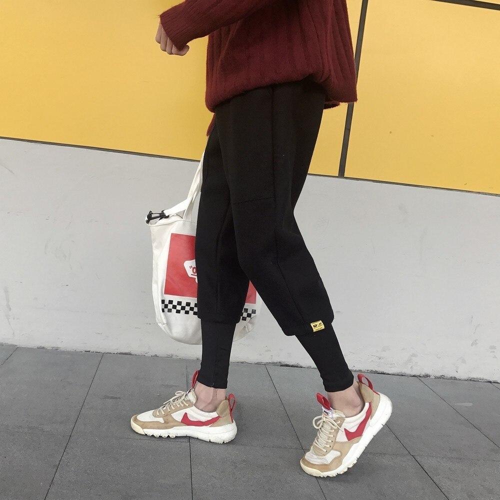 Hiver Lâche Pantalon Lié Mouvement Black Pieds 2xl Casual Hommes Épaissir Automne khaki Élastique Couleur Taille M Poche Joggers Solide 2018 qf5In