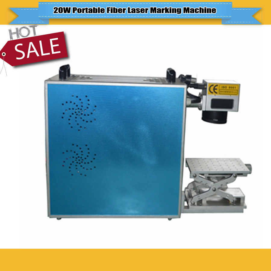 JIN ZHI YIN 20W Portable Fiber Laser Marking Machine For Marking Metal Stainless steel Materials