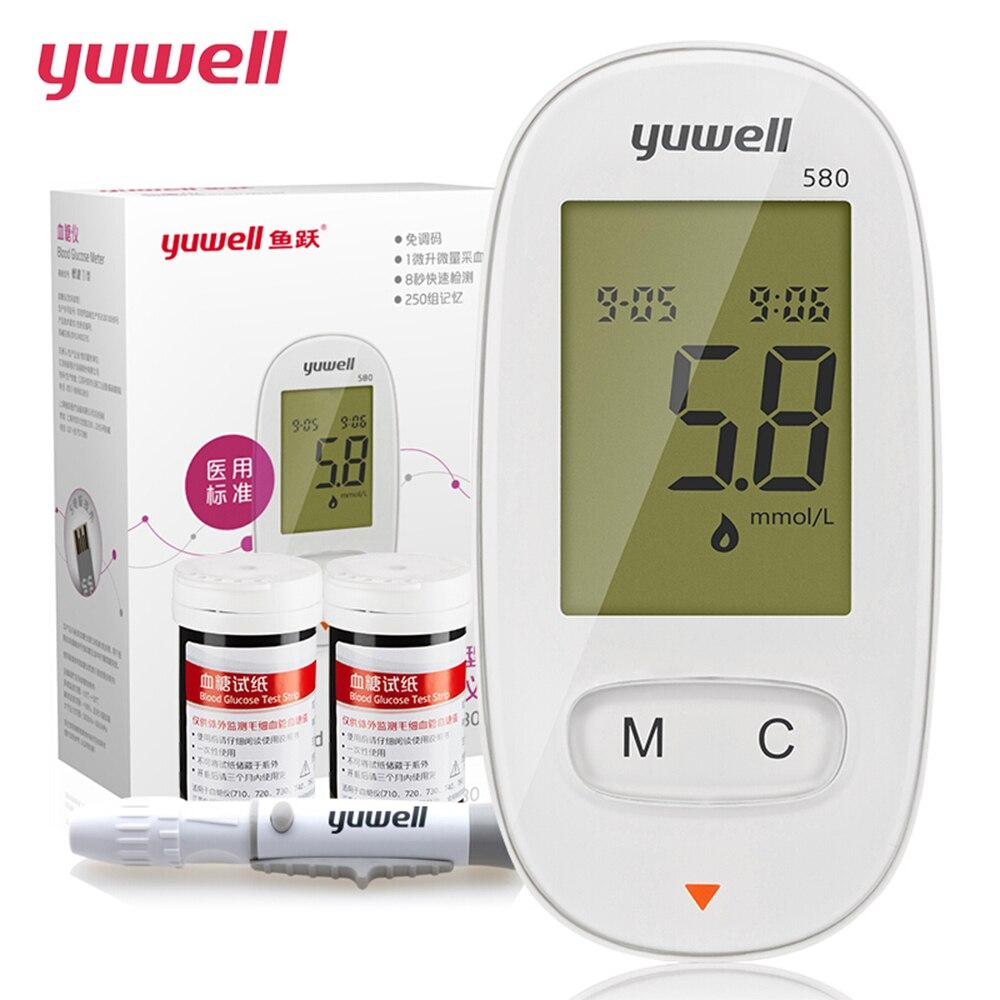 Yuwell Glucometer Große Digitale LCD Medizinische Geräte Tragbare ...