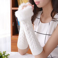 Free Shipping Arm Warmers Women's Fingerless Long Glove Mitten Girl Braided Knit Winter / Autumn Warm Arm Warmers