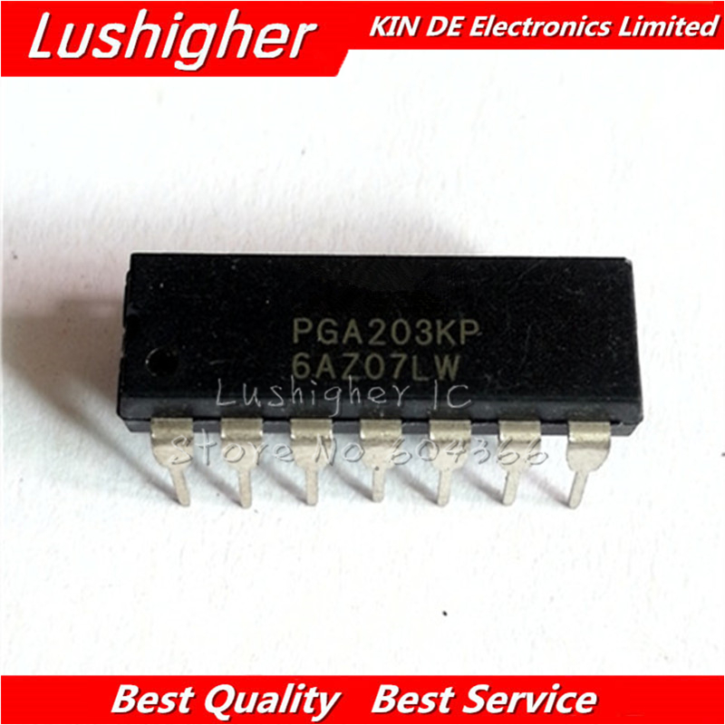 10PCS PGA203KP DIP PGA203 DIP 14-in Integrated Circuits from Electronic Components & Supplies