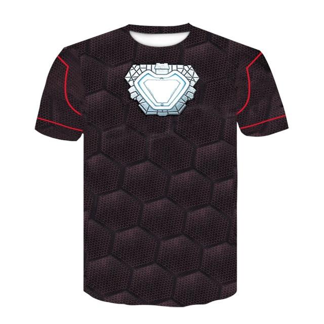 c2136b9889 Homem De Ferro Avengers 3 Manga Raglan Camisas De Compressão 3D Impresso T  camisas Dos Homens