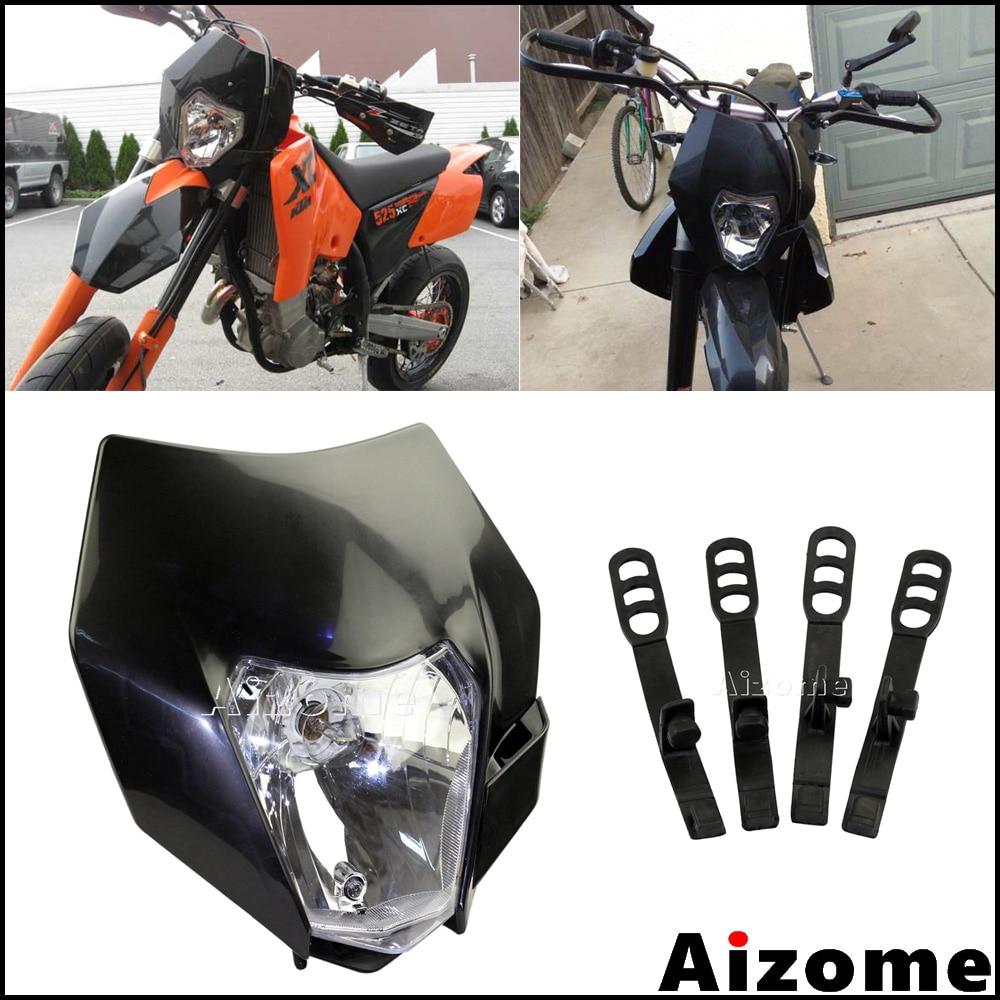Universal Motorcycle Dual Fairing Headlight 18W High Low