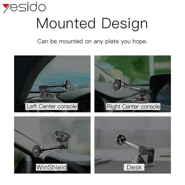 Yesido C41 telescópica Coche magnético soporte para teléfono tablero parabrisas tonto coche soporte de montura para iPhone soporte de coche Samsung