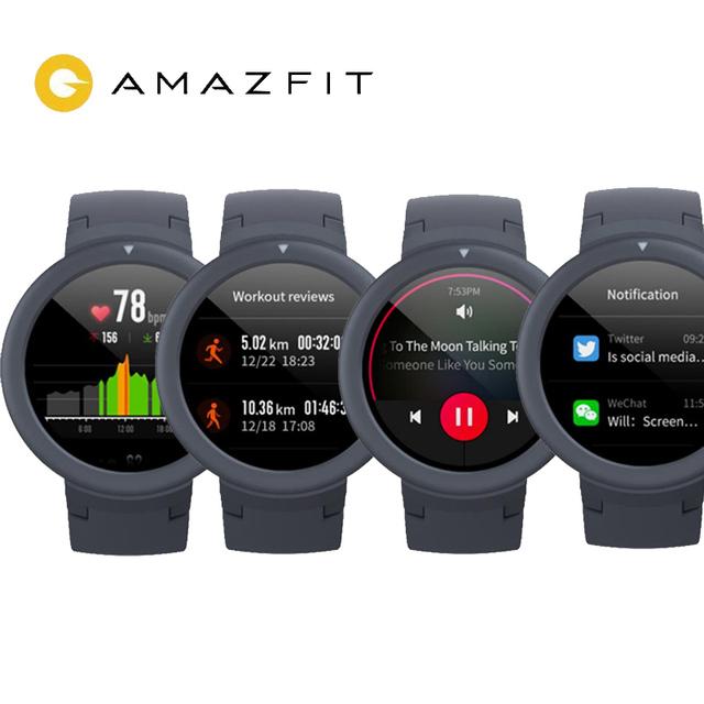 Newest Origina Amazfit Verge Lite Smartwatch 20Days Battery Life  Huami verge2 GPSwatch AMOLE Color Screen Global version