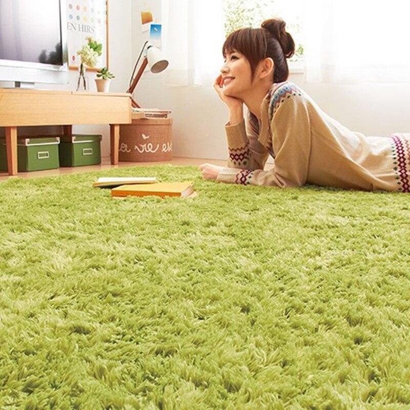 Benutzerdefinierte Lange Haare Solide Teppich Shaggy große Teppiche Bad Rutschfeste Teppiche für Wohnzimmer Teppich Schlafzimmer Hotel rechteck Teppich