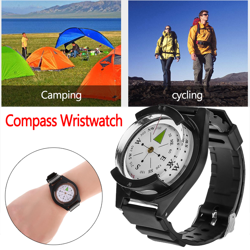 Outdoor Compass Professional Compass Waterproof Navigator Digital Watch Scuba Compass For Camping Hiking Hunting Drop Ship