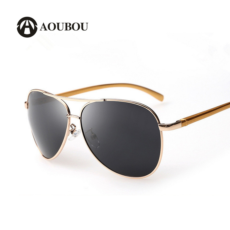 4161f674b07fb New Aviation Aluminum Magnesium Polarized Sunglasses Men Classic Oval Gold  Frame Green Lens Driving Mirror Glasses. womens ray-ban ...