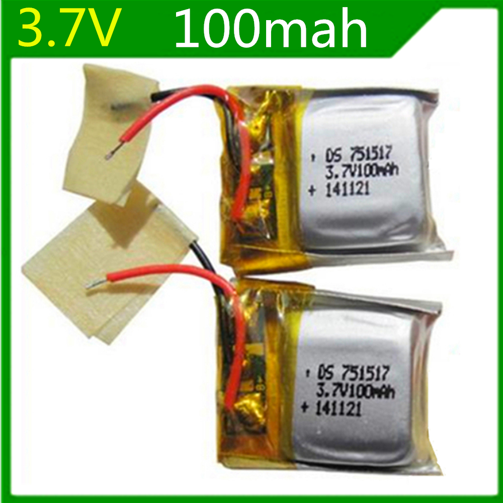 3.7V 100mAh Spare Battery For RC Cheerson CX-10 Quadcopter 6X3U LI-PO Lipo Battery 3.7V 1 PCS