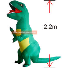 Inflatable Dinosaur Costume Adult Kids T Rex Dino Rider Outfit Cosplay Purim Halloween Dragon Party Carnival