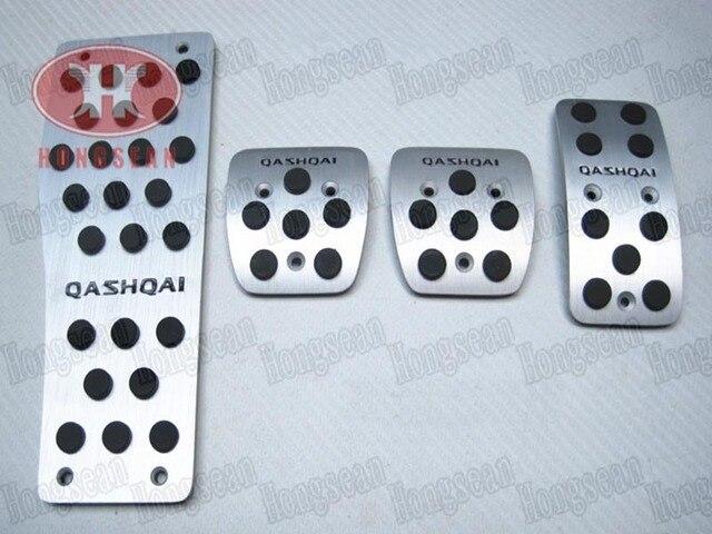 High quality aluminium alloy QASHQAI logo foot rest pads gas accelerator clutch  brake pedal for nissan QASHQAI MT 2007-2013