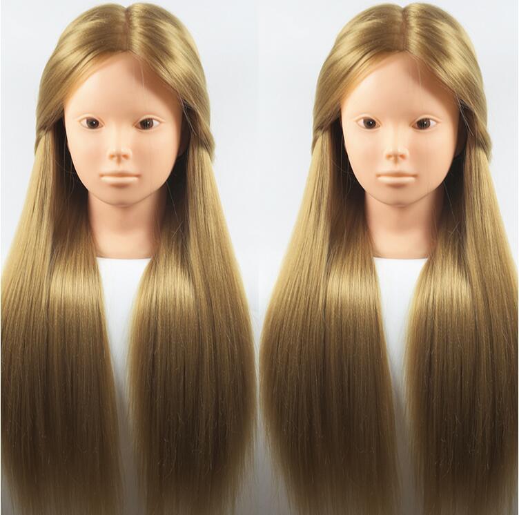 Mannequins de tête de modèle de femmes de cadeau de cheveux féminins de 65 CM, tête de coiffure de pratique de tête de maquillage de mannequin, vraies perruques de cheveux avec le support, M00620