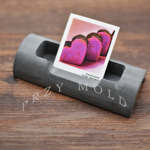 silicone mold cement concrete simple office business card holder Cement life supplies molds