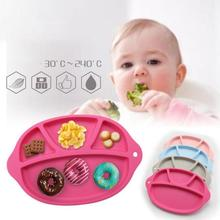 Children plate New food-grade silicone Baby Infant Cute Feeding Plate Fruit Dishes Kids Child Tableware R2-18H