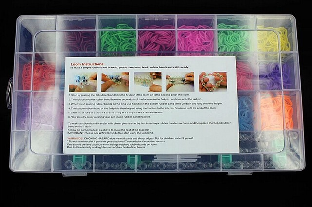 4400pcs Free Shipping Toy Gift Loom Bands Kits Fun Loom Rubber Bands