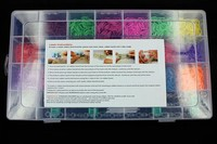 4400Pcs Free Shipping Toy Gift Loom bands Kits Fun Loom Rubber Bands Kit DIY Bracelets Colorful Children Toy HY1004