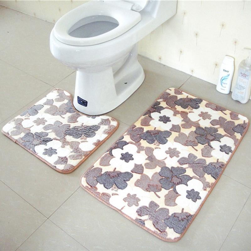 Suede Round Area Rugs Outdoor Mats Bathroom Home Area Rugs Water BathRoom Rugs Set Mats Anti